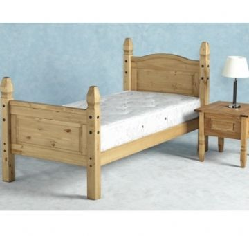 Corona Single Bedframe (3Ft) - Pine